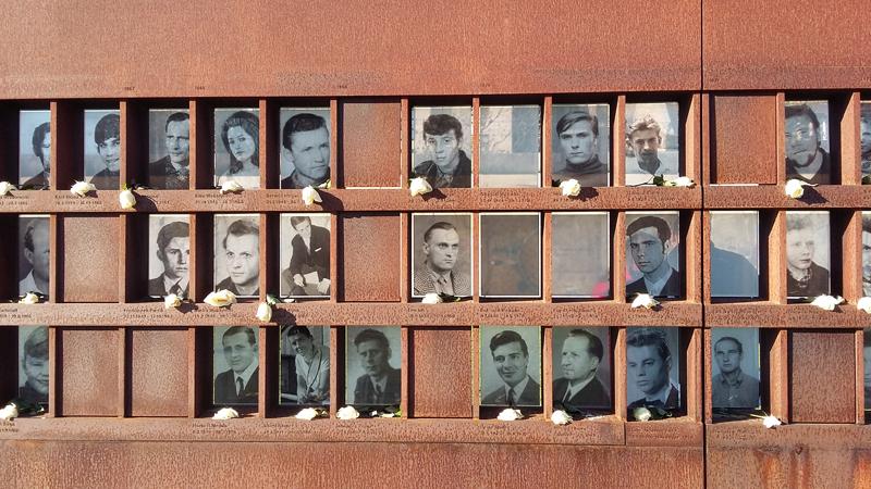 Gedenkstätte der Berliner Mauer - Gedenkmauer der Opfer