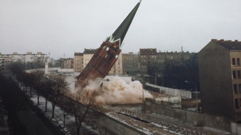 Gedenkstätte der Berliner Mauer - Bild der Fotoausstellung im Besucherzentrum