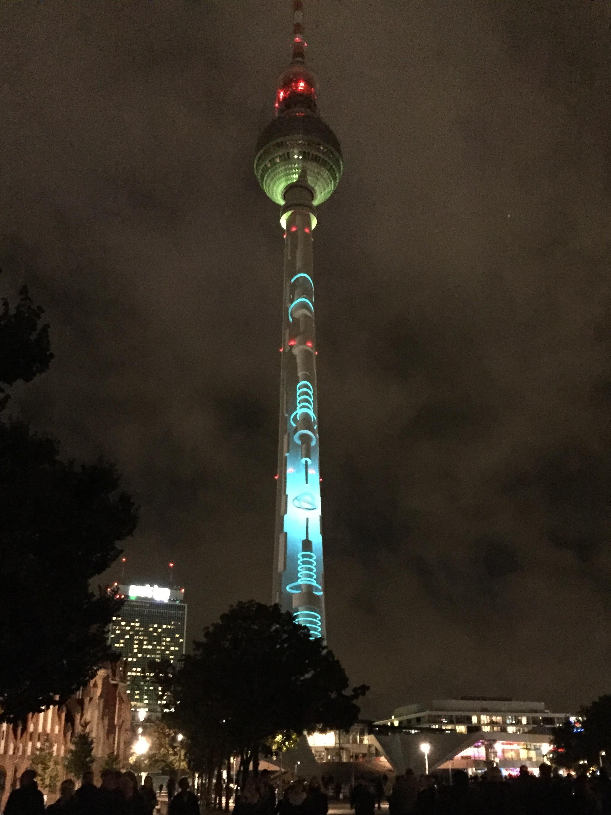 Berliner Fernsehturm - Festival of Lights 2016