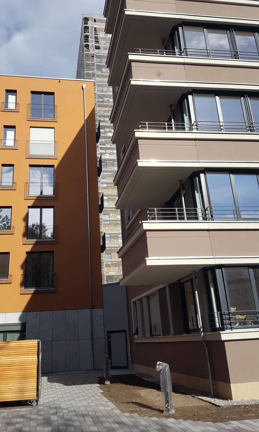 neue Gebäude in der Lehrter Straße im Oktober 2019