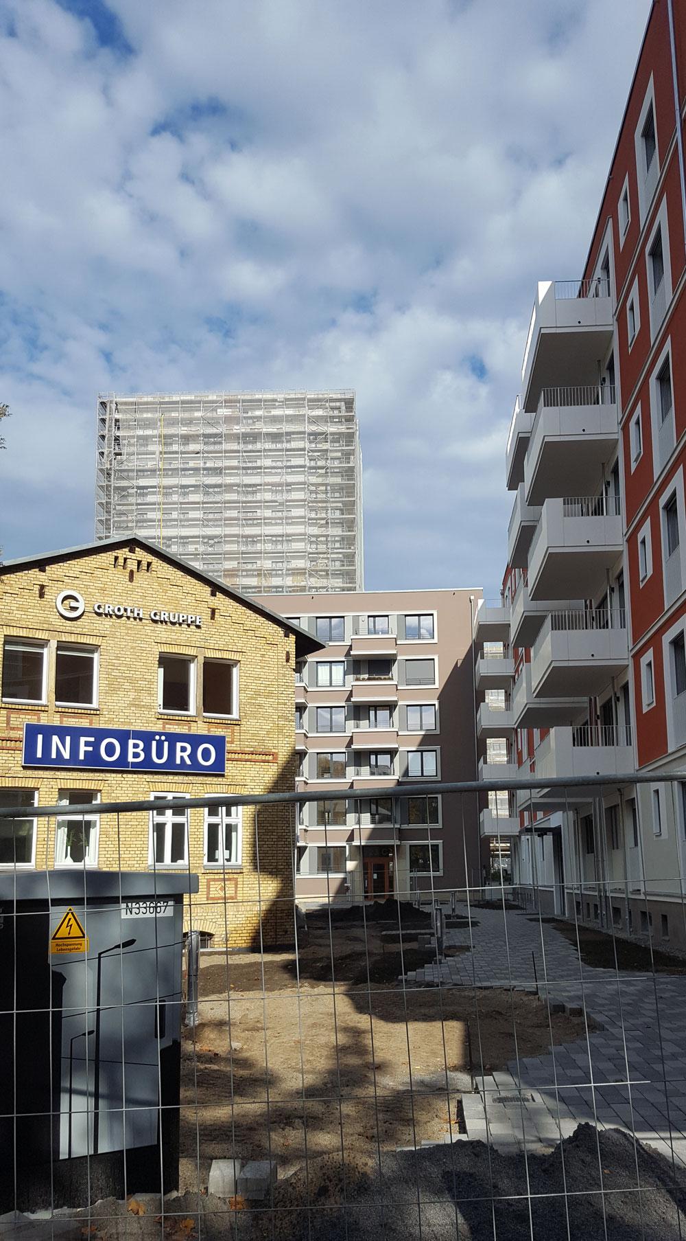 Infobüro der Groth-Gruppe in der Lehrterstraße im Oktober 2019