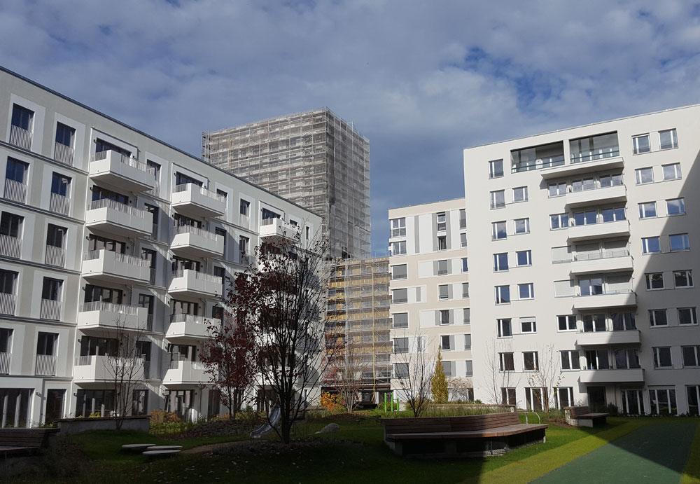 neue Wohnhäuser im Oktober 2019