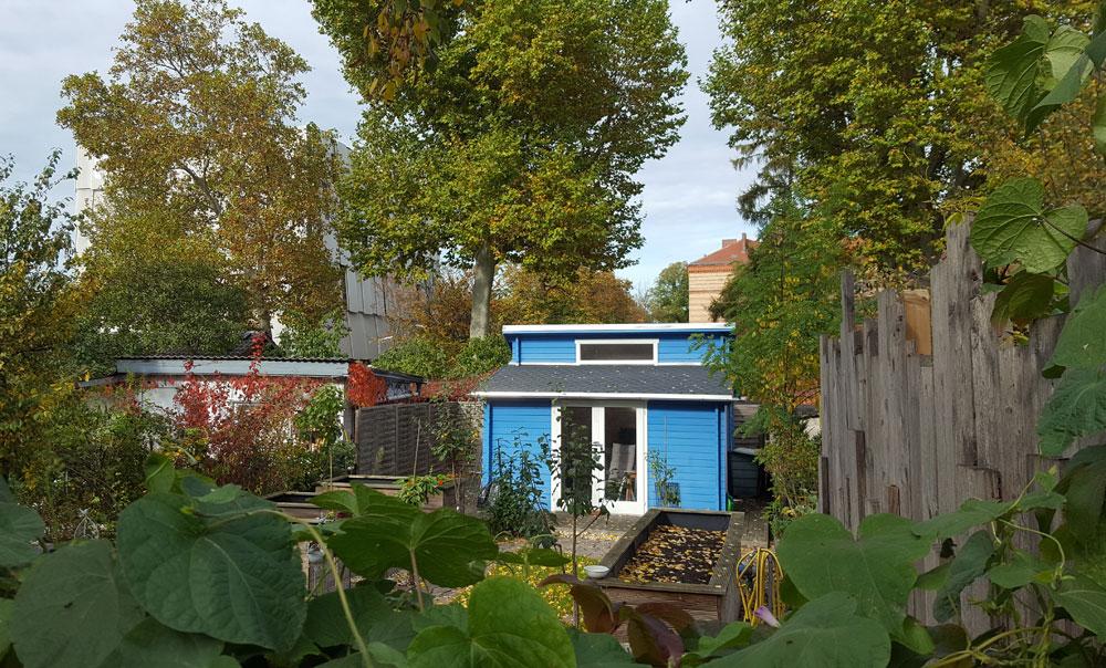 Haus im Schrebergarten in der Lehrter Straße im Oktober 2019