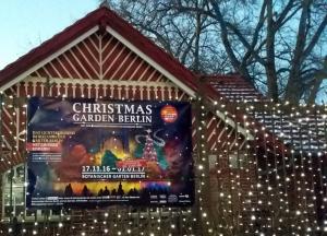 Christmas Garden - Eingang zum botanischen Garten - Unter den Eichen