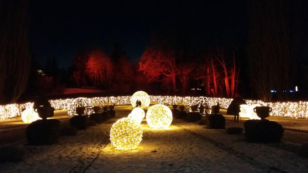Christmas Garden - Aussicht auf den Glühwürmchengarten