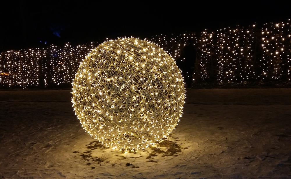 Christmas Garden - Leuchtkugel im Glühwürmchengarten