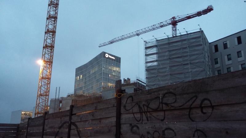 Bauprojekt Europacity - Blick auf den Total-Tower