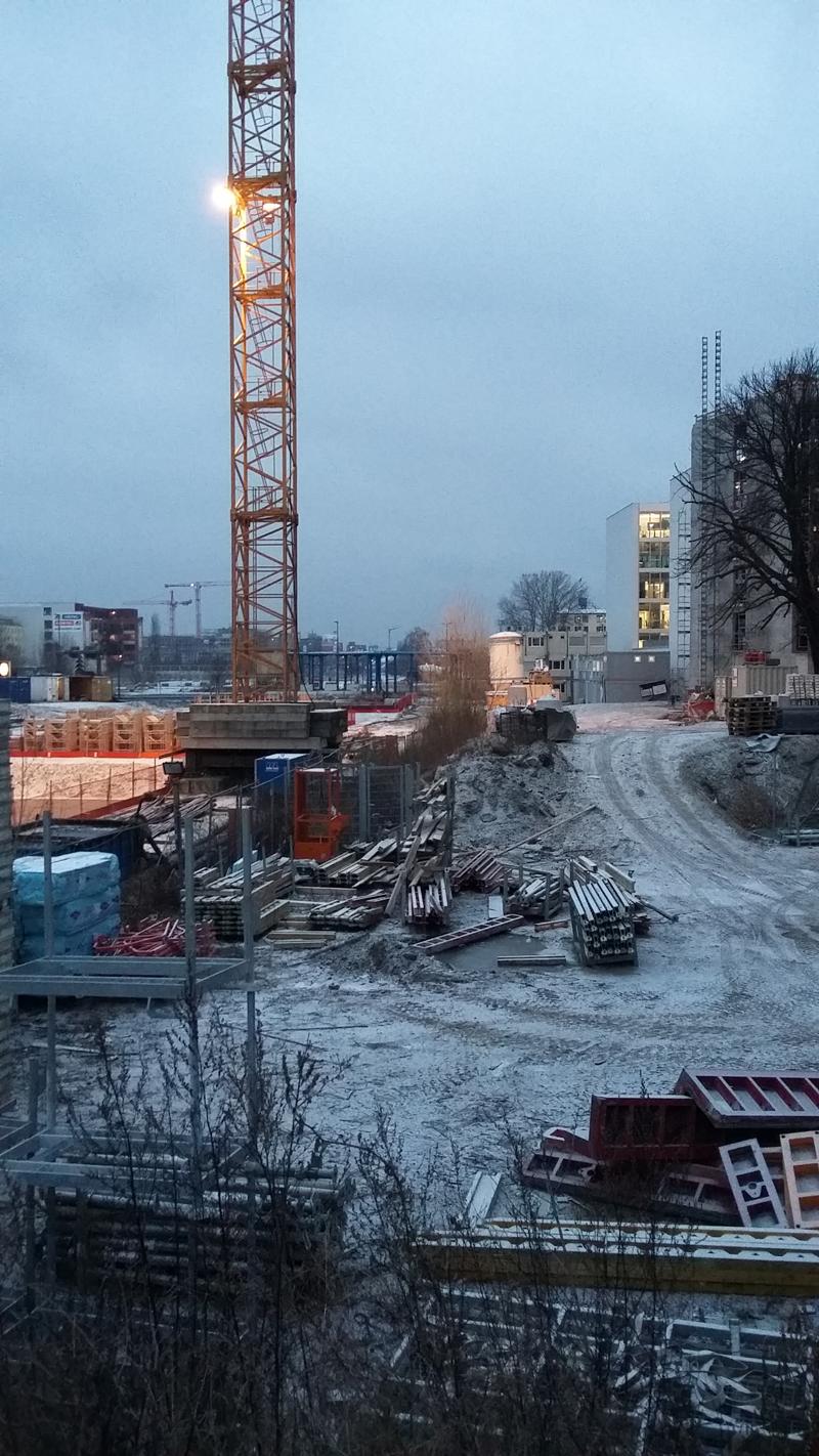 Bauprojekt Europacity - Am Hauptbahnhof im Januar 2017