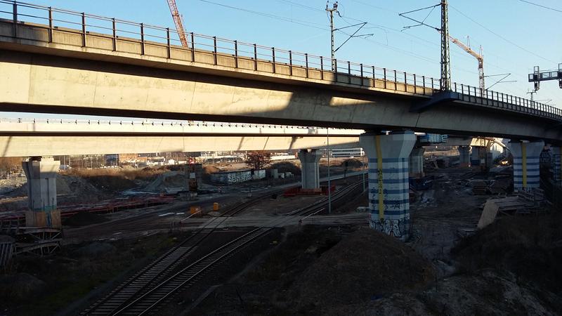 Bauprojekt Europacity - Blick auf die Baustelle von der Fennbrücke aus