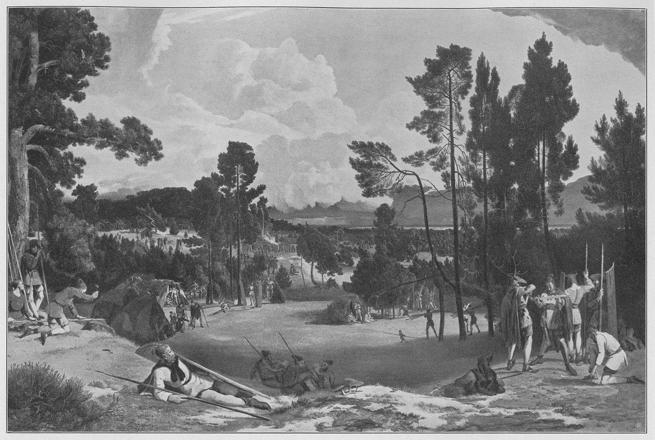 Semnonenlager am Müggelsee - Gemälde von Carl Blechen (1828)
