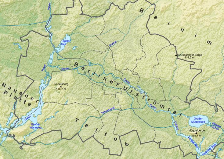 Das Berliner Urstromtal nach der letzten Eiszeit