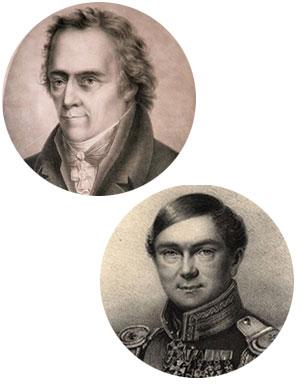 oben Christoph Wilhelm Hufeland und unten Karl von Graefe