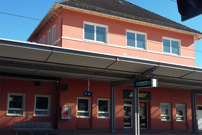 Bahnhof in Günzburg