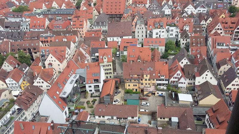 Ausblick auf die Dächer von Ulm