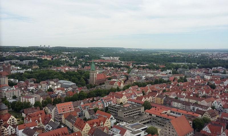 Die Aussicht vom Ulmer Münster von ganz oben