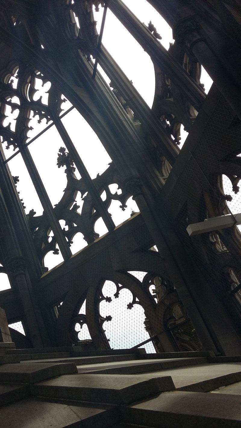 Der Kirchturm des Ulmer Münsters von innen