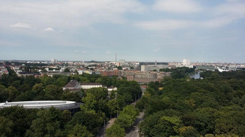 Blick von der Berliner Goldelse gen Norden