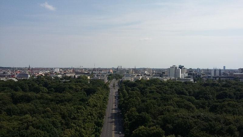 Blick von der Berliner Goldelse gen Süden