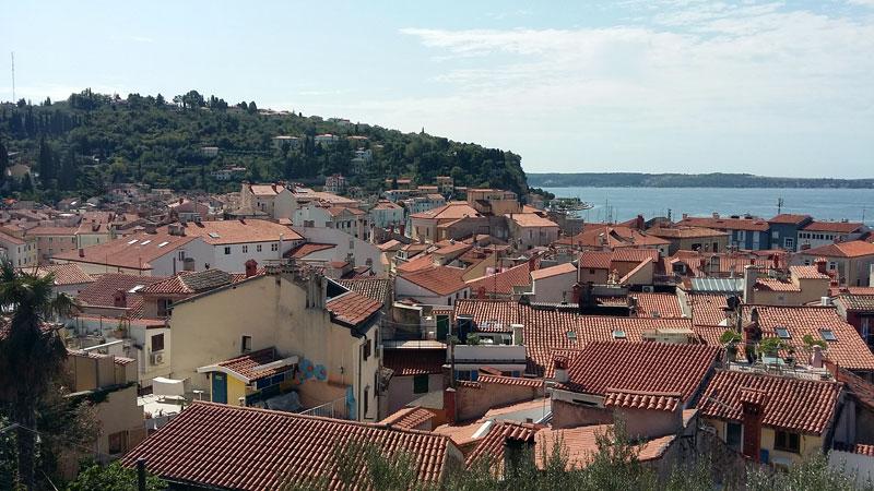 Slowenien - Blick von oben auf Piran