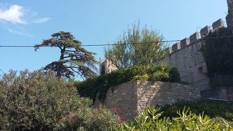 Slowenien -Die alte Stadtmauer von Piran