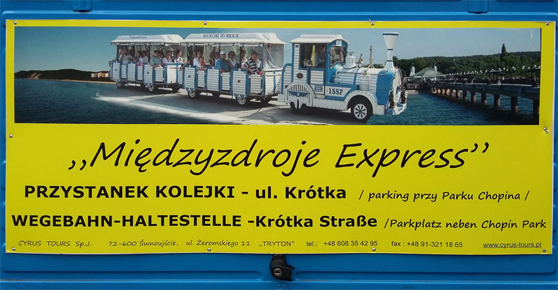 Eine Bimmelbahn in Swinmünde - der Międzyzdroje Express