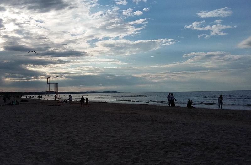 Swinemünder Strand - Die Sonne geht unter