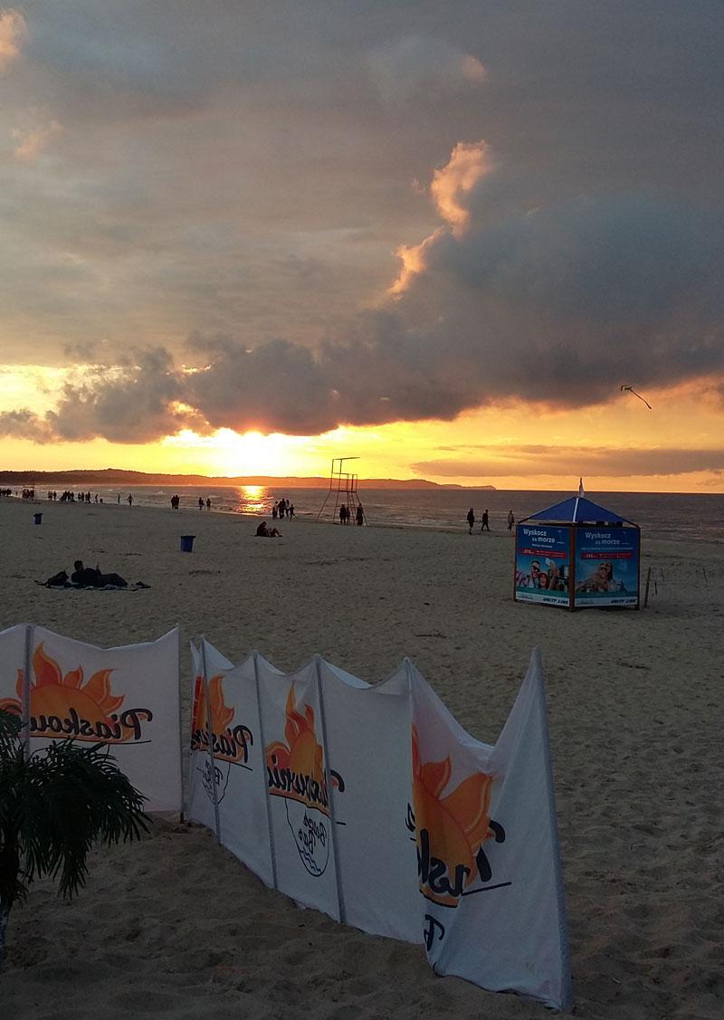 Swinemünde -Sonnenuntergang am Strand