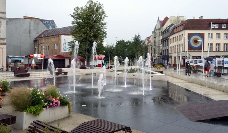 Der Plac Wolności (Freiheitspaltz) in Swinemünde