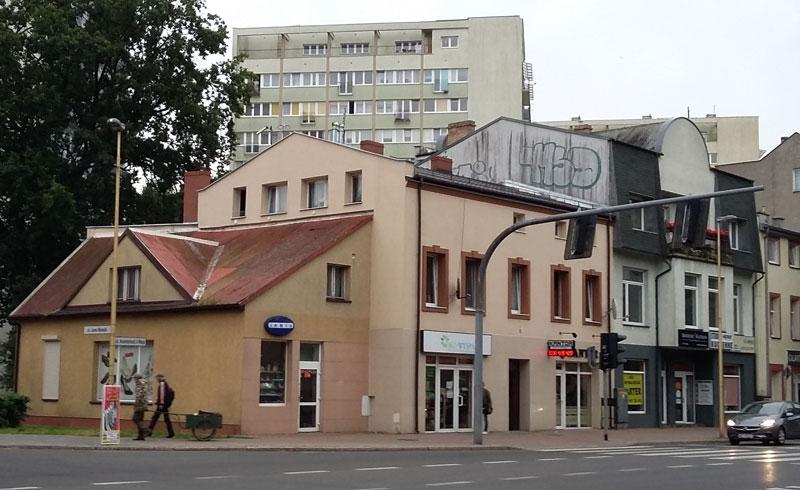 Häuserzeile in der Altstadt von Swinemünde