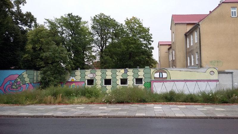 Krokodilhaus in der Altstadt von Swinemünde