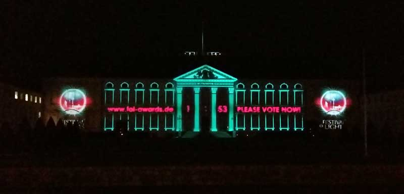Lichterfest in Berlin - Schloss Bellevue - Sonderaward Demokratie