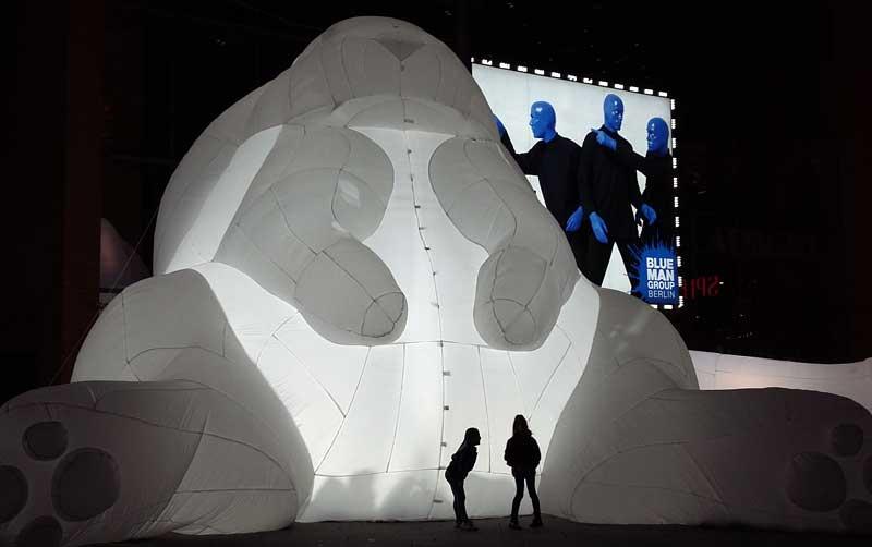 Lichterfest in Berlin - Noch ein Bunny am Marlene-Dietrich-Platz
