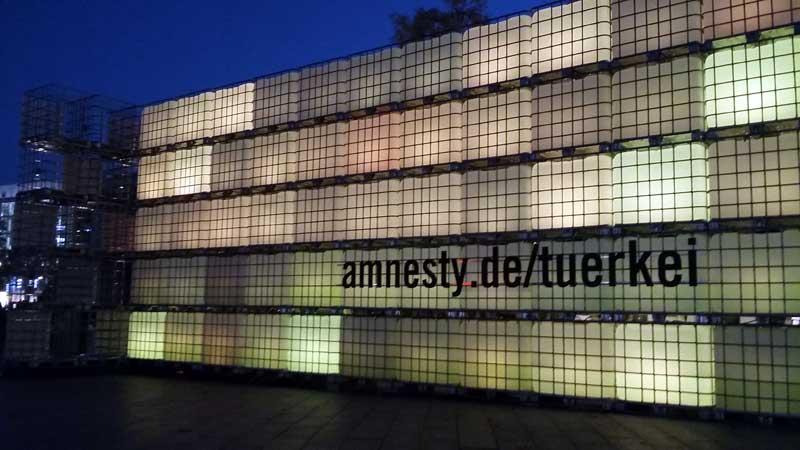 Lichterfest in Berlin - Installation Freiheit vor der Gedächtniskirche am Breitenscheidplatz