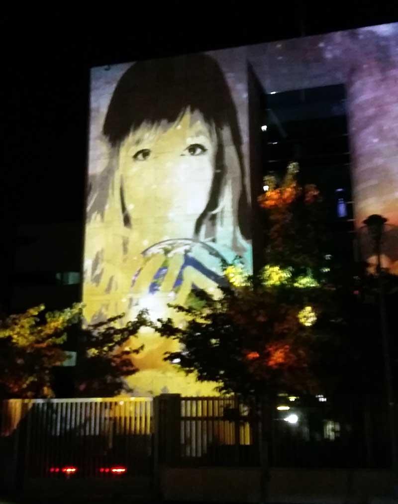 Lichterfest in Berlin - Botschaft von Singapur - Illumination von Tatjana Danilov