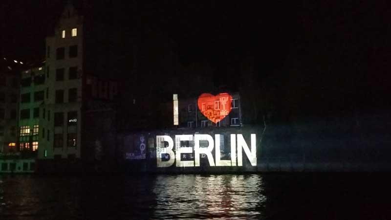Lichterfest in Berlin - Beleuchtung 3 der FMS Rummelsburg