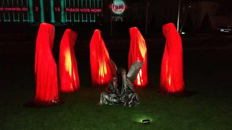 Lichterfest in Berlin - Schloss Bellevue - Die Wächter der Zeit