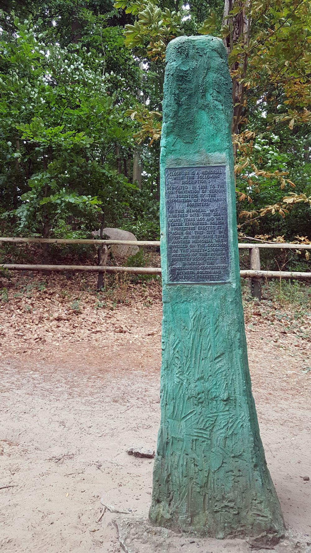 Gedenkstein der deutsch-polnischen Förster auf dem Kaffeeberg