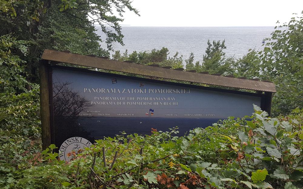 Aussichtspunkt im Naturpark Wollin