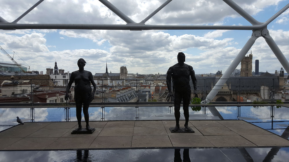 Aussichtsplattform im Centre Pompidu