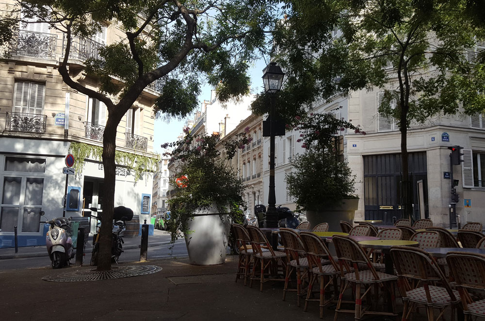 Platz José-Rizal im Quartier de Rochechouart im 9. Arronsissement l'Opéra