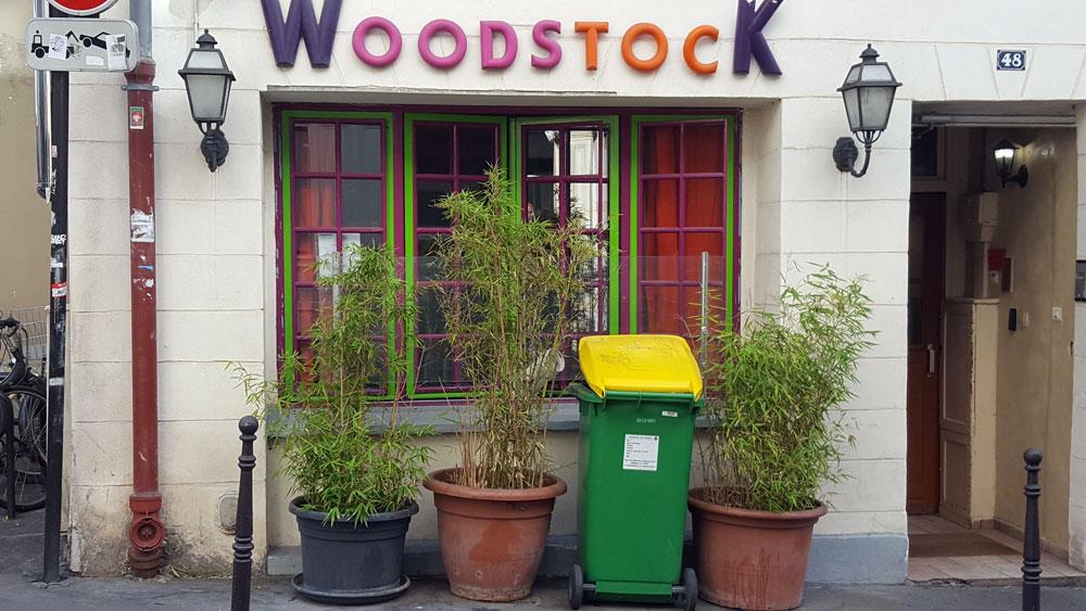 Woodstock Hostel in der Rue Rodier im Quartier Rochechouart