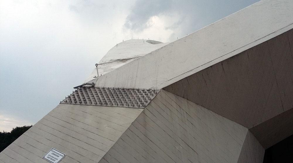 Das heutige Dach der schwangeren Auster ist nicht begehbar