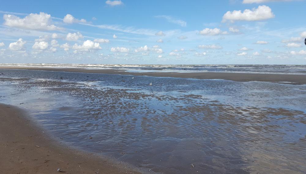 Die Nordsee in Holland - Strand in Zandvoort bei Ebbe