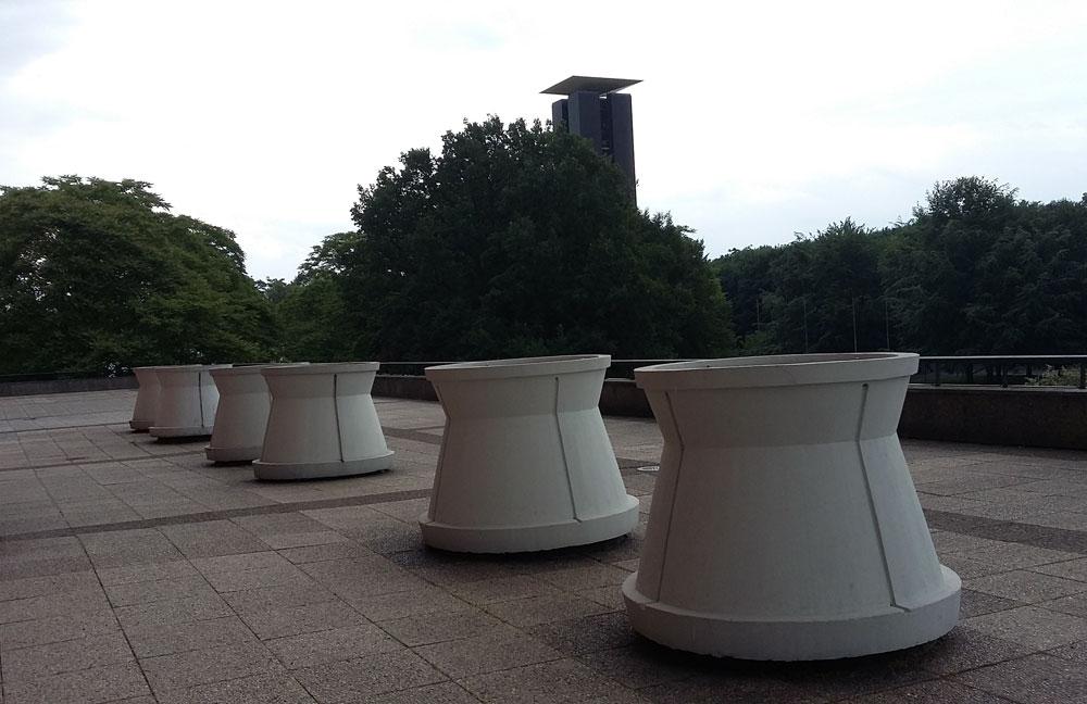 Blick von der Terrasse des HKW auf das Carillion