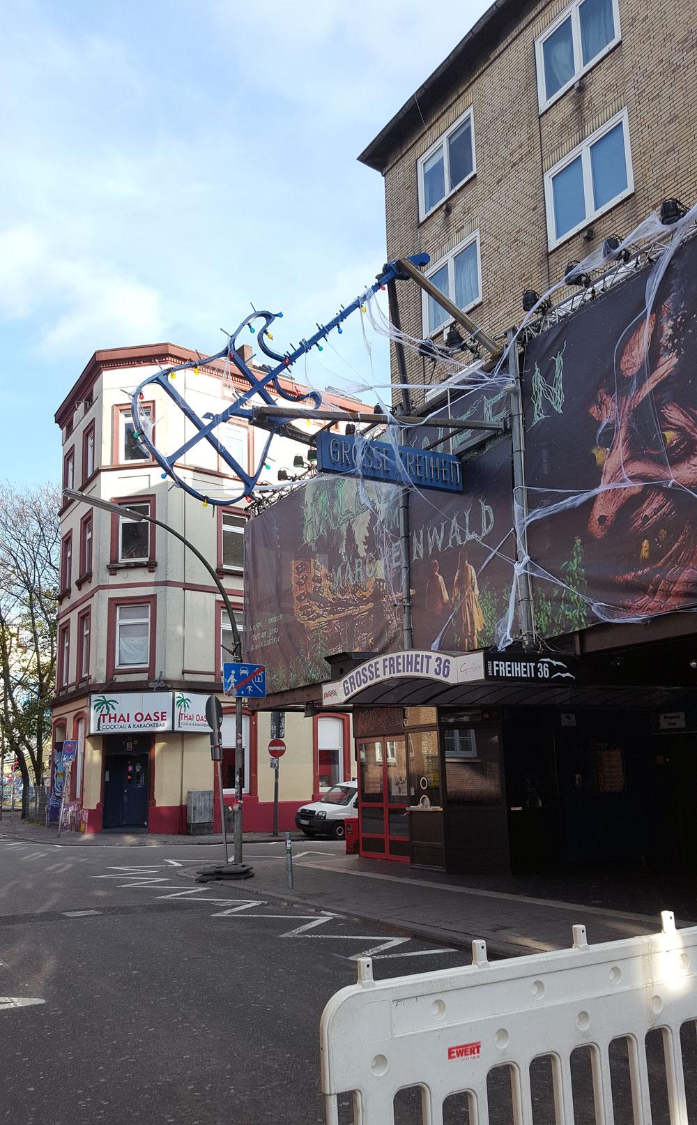 """Der Musikclub """"Große Freiheit 36"""" im Stadtteil St. Pauli."""