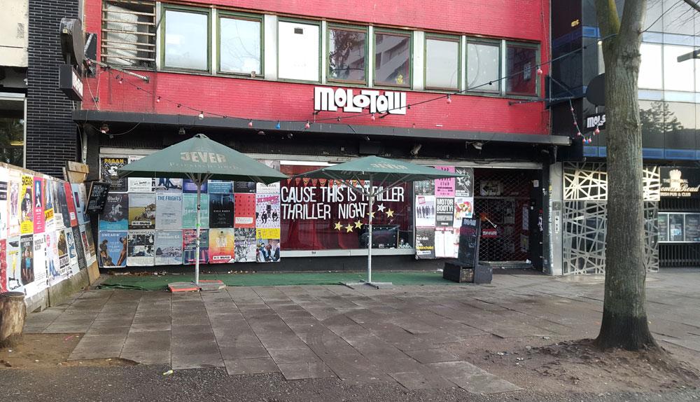 Eingang des Molotow-Musikclubs am Nobistor