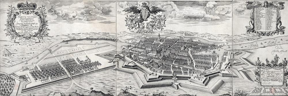 Berliner Stadtplan von Johann B. Schultz zeichnete aus dem Jahr1688