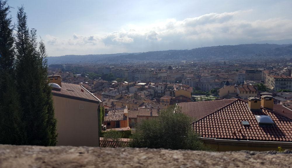 Aussicht vom Burghügel in Nizza