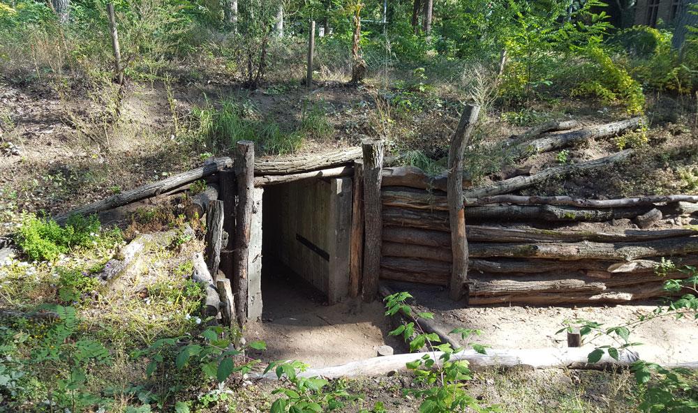 Ein Luftschutzbunker aus dem 2. Weltkrieg