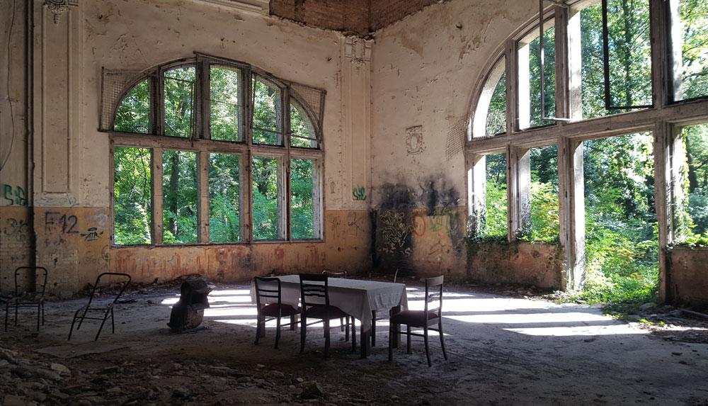 Der ehemalige Speisesaal des Alpenhauses